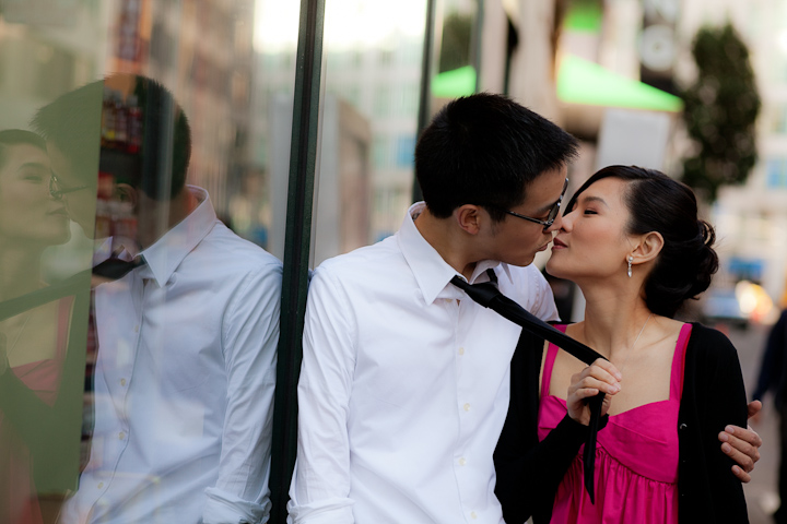 Cable Car Engagement Photo, Makeup and Hair by Triple Twist